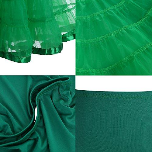 Dressystar Enagua Mujer Corta Cancan Vintage 50s Para Los Vestidos Green