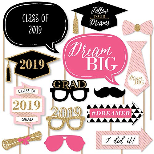 (Dream Big - 2019 Graduation Photo Booth Props Kit - 20)