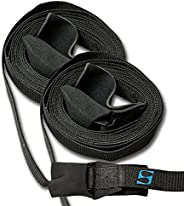 SurfStow Transport 50059 SUP Auto Rack Straps, 2 - 15 Feet, Secures One or Two Boards
