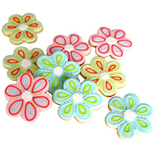 ½ Dz. Flower Cookies Get Wells, Baby and Bridal Showers, Thank You's and I love You's