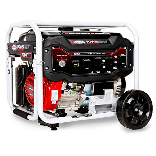 SIMPSON Cleaning SPG7085E Portable Gas Generator with GX390 Engine Electric Start, 7000 Running Watts 8500 watts Simpson