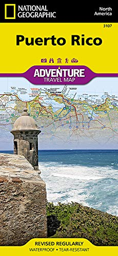Puerto Rico (National Geographic Adventure Map) (San Juan Puerto Rico Travel Book)