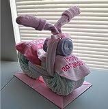 Motorcycle Diaper Cake - Baby Shower Diaper Cake - Nursery Diaper Cake - Baby Shower Gift - Mom to Be Cake - Baby Gift