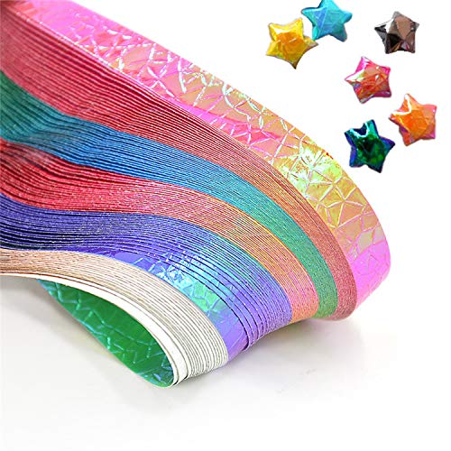90 pcs Pearlescent Gradient Color Lucky Stars Origami Colorful Origami Craft Papers DIY Handmade Paper Crafts