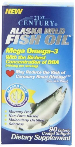 21st Century Alaska Wild Fish Oil Softgels, 90-Count (Pack of 2) by 21st Century