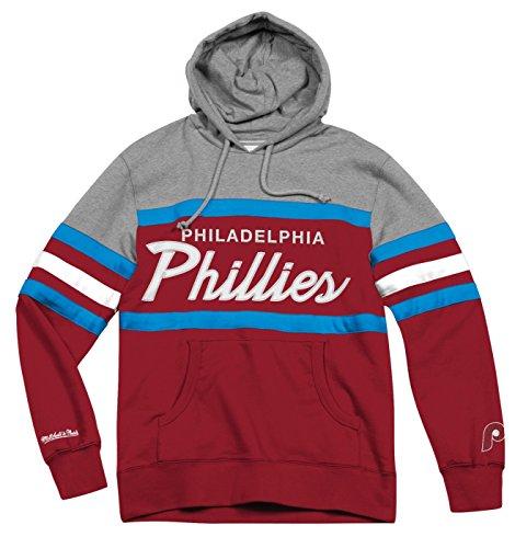Mlb Hooded Sweatshirt (Philadelphia Phillies Mitchell & Ness MLB Head Coach Pullover Hooded Sweatshirt)