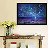 JCBABA DIY 5D Diamond Painting, Crystal Rhinestone Full Diamond Embroidery Pictures Arts Craft for Home Wall Decor Night Sky 11.8 x 15.7inch