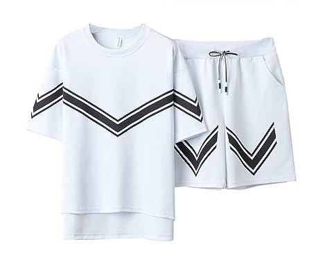 Hombre Casual Camiseta De Manga Corta Pantalones Cortos 2 Piezas ...