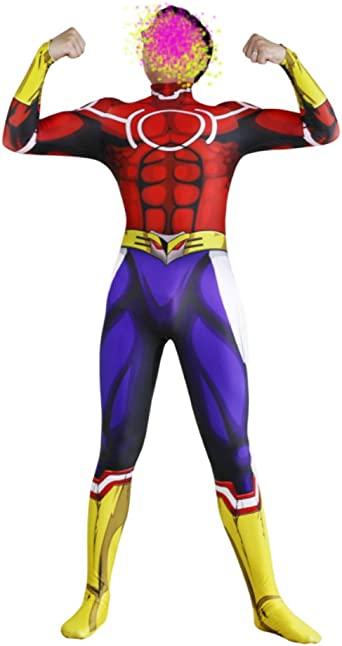 Amazon Com Wish Costume Shop My Hero Academia All Might Cosplay Costume Mens Halloween Bodysuit Clothing