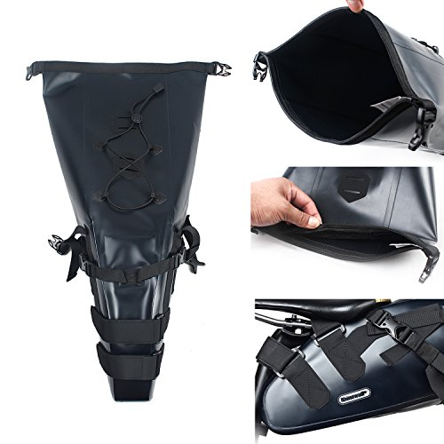 Waterproof under seat bike packs rear tail saddle bags for Mountain Bicycle with 10L Large Capacity