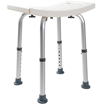 TMS Medical Bath Tub Shower Chair Adjustable 7 Height Bench Stool Seat Without Back  sc 1 st  Amazon.com & Amazon.com: TMS Medical Bath Tub Shower Chair Adjustable 7 Height ...