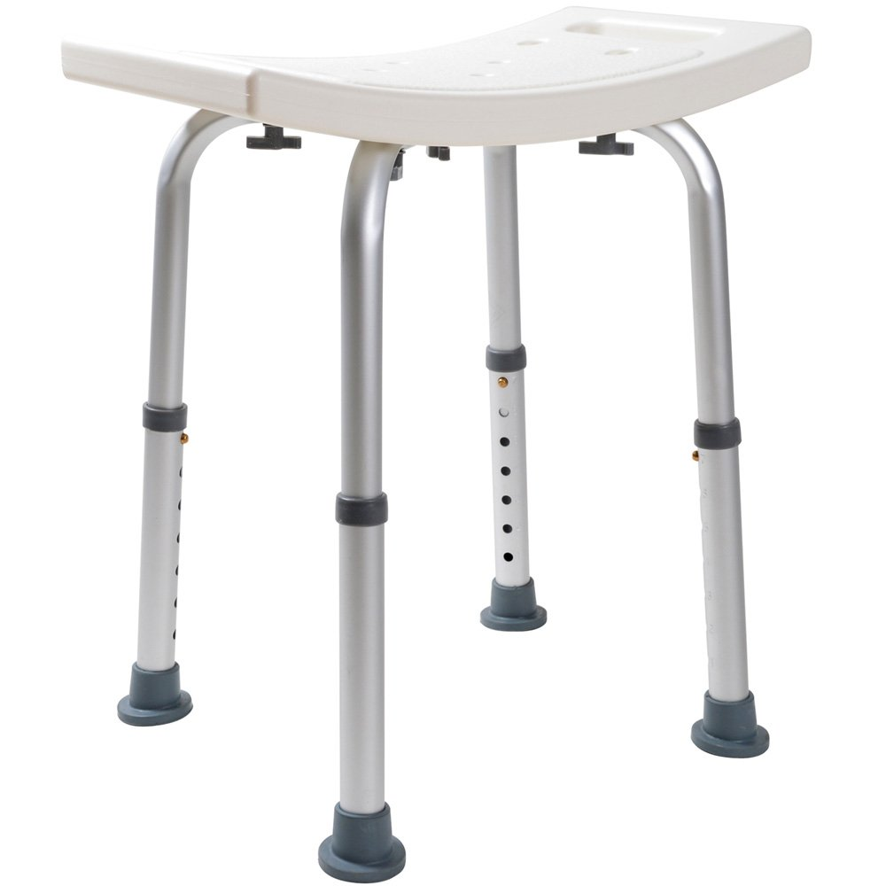 TMS Medical Bath Tub Shower Chair Adjustable 7 Height Bench Stool Seat Without Back
