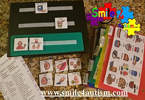 NEW 156 Color Picture Exchange Communication (PECS) Book 4 children with Autism (Autism Pictures)