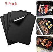 LANYHU 5Piece Non-stick BBQ Grill & Baking Mats-Perfect For Baking on Gas, Charcoal, Oven and Electric Gri