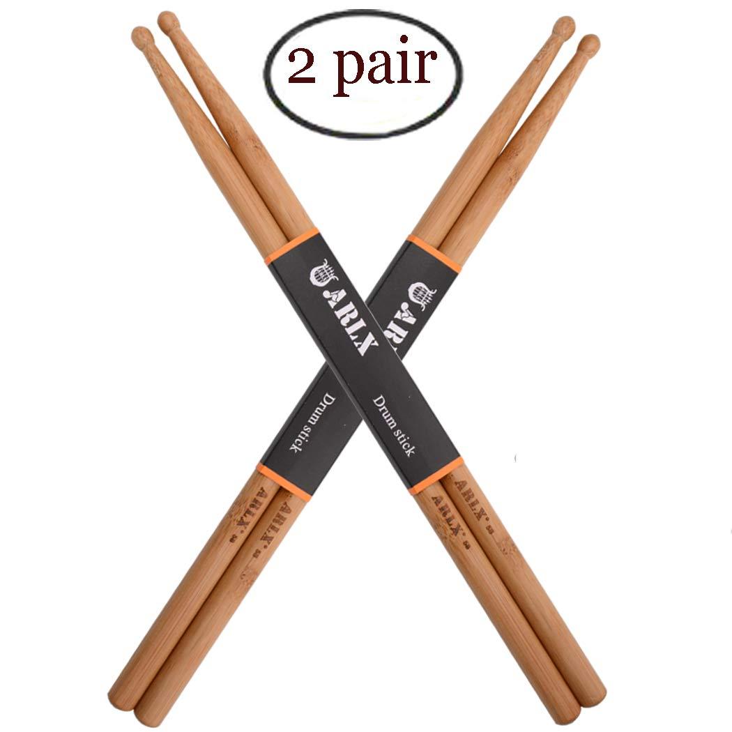 Amazon.com: Baquetas 5a punta de madera baquetas clásicas ...