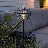 Festive Lights Solar Powered Garden LED Stake Outdoor Decorative Retro Lighting (Round)