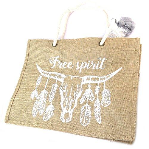 Shopping bag Boho(spirito libero)- 42.5x33x18.5 cm.