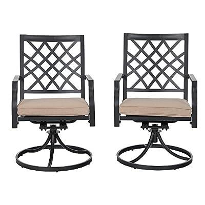 PHI VILLA Basket Weave Swivel Chair
