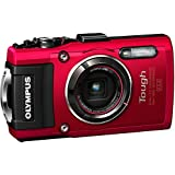 Olympus TG-4 16 MP Waterproof Digital Camera with 3-Inch LCD (Red) - International Version