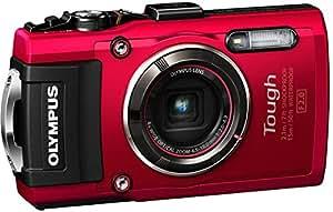 """Olympus TG-4 - Cámara de Fotos subacuática de 16 MP (Pantalla de 3"""", Zoom óptico 4X, estabilizador Digital, grabación de Video Full HD, WiFi, GPS), Rojo"""