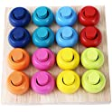 Babe Rock Sorting Stacking Rings Board Educational Puzzle Games