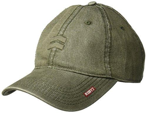 A. Kurtz Men's Denim Baseball Cap, Olive drab, OSFA ()
