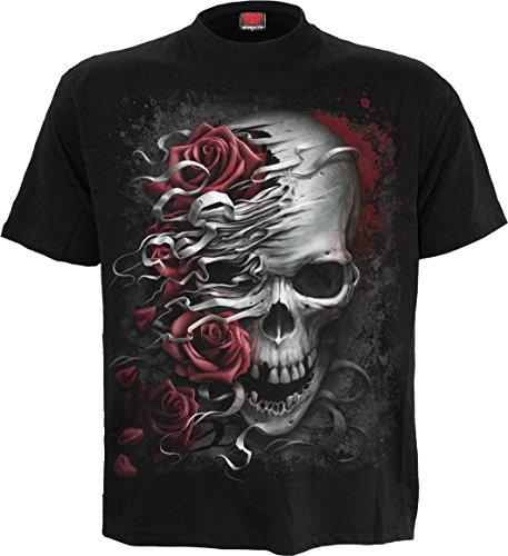 Spiral Rose - Spiral - Mens - Skulls N Roses - T-Shirt Black - XXL
