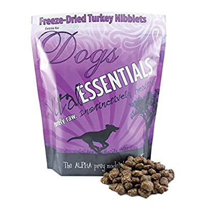 Vital Essentials Freeze-Dried Turkey Nibblets Grain Free Limited Ingredient Dog Entree, 1 Pound Bag