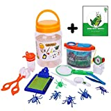 Adventure Kids - Bug Catcher, Habitat Bucket, Tongs, Magnifier, eBook & More – Educational, Imaginative & Creative Toys. Explorer Kit Great Gift Set For Birthday, Nature & Backyard Fun (12 Pieces)