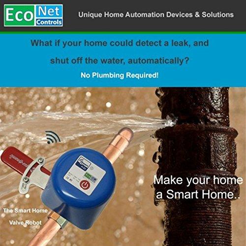EcoNet Controls EBV105-HCM Z-Wave Water Valve, Smart Home, No Plumbing, 3/4'' (Medium)