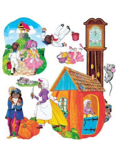 Nursery Rhymes Flannelboard Set - Nursery Rhymes 1 felt figures for flannel boards-4 rhymes Jacks Jill, 3 Blind Mice, Hickory Dickory, Peter Pumpkin Eater