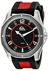Quiksilver Men's QS/1014BKRD THE MARINER Red and Black Silicone Strap Watch