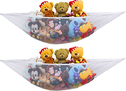 2 PK - Simplehouseware Stuffed Animal Jumbo Toy Storage Hammock ()