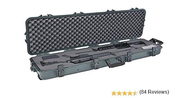 Plano All Weather – Estuche para rifle/escopeta Rifle de doble mira con ruedas, color verde: Amazon.es: Deportes y aire libre