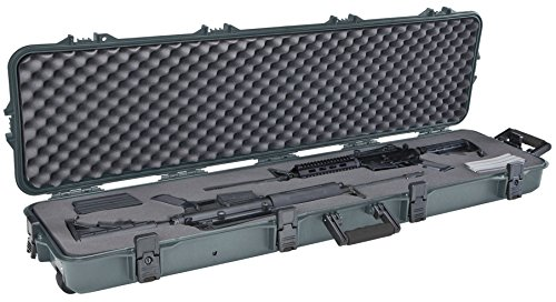 Plano All Weather Double Scoped Rifle/Shotgun Wheeled Case, Green