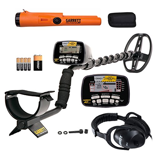 Garrett AT Gold Waterproof Metal Detector with Headphones and ProPointer AT PinPointer For Sale