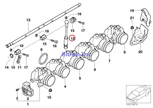 BMW Genuine Fuel Injection Throttle Body/Acceleration Pull Rod M3 Z4 M3.2 Z4 M3.2 Z3 M3.2