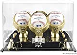 Pittsburgh Pirates Golden Classic Three Baseball Logo Display Case