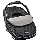 Baby : JJ Cole - Car Seat Cover, Weather Resistant Canopy to Protect from The Cold and Wind, Black Tri Stitch, Birth and up