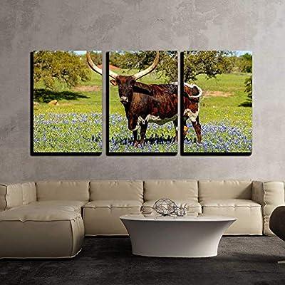 Summer On The Open Range - 3 Panel Canvas Art