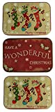 Christmas Gift Card Holders Tin Box Nostagic 3 Pack