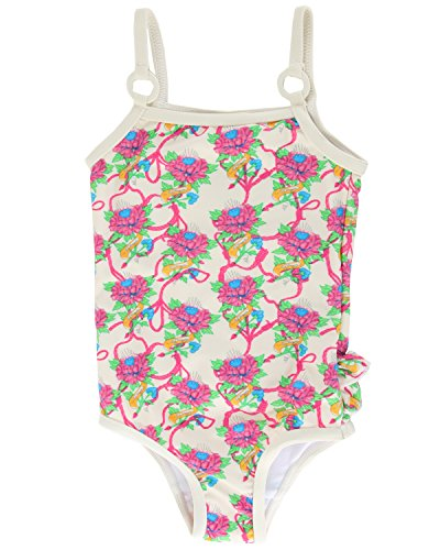 Ed Hardy Baby Girls' Tattoo Graphic Swimsuit - Ivory - - Hardy Ed Bikini Women