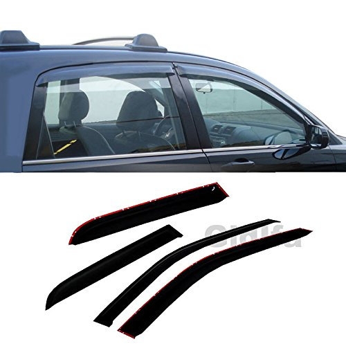 Gldifa Wind Deflector For 2002-2009 Trailblazer/Envoy Smoke Sun/Rain Guard Window Visors (Trailblazer Window)