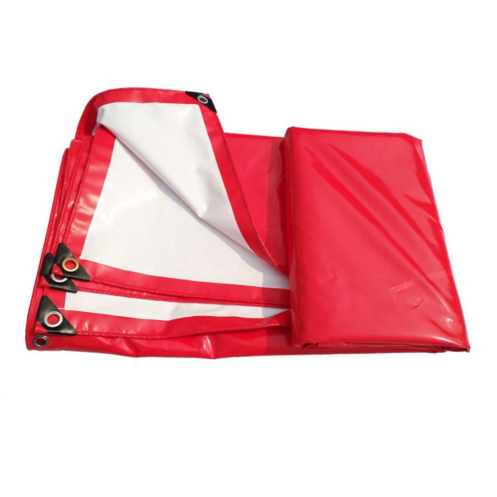 二重使用赤と白の雨の防水PVC防水ヘビーデューティーフットプリントグラウンドシートカバーテントタープキャノピー布 (サイズ さいず : 4 * 6M) B019Q3ISTQ   4*6M
