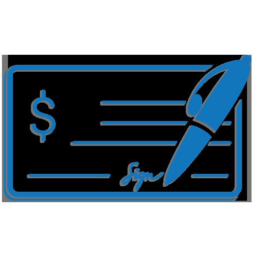 Check Writer Wallet Writer