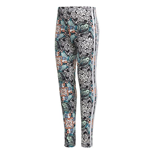 adidas Originals Girls' Big Zooanimal Print Leggings, Multi/White M ()