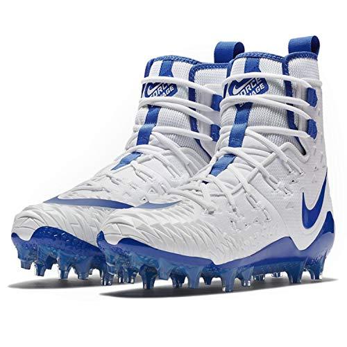 Nike Mens Force Savage Elite TD Football Cleats (8.5, White/Game Royal/Photo Blue)