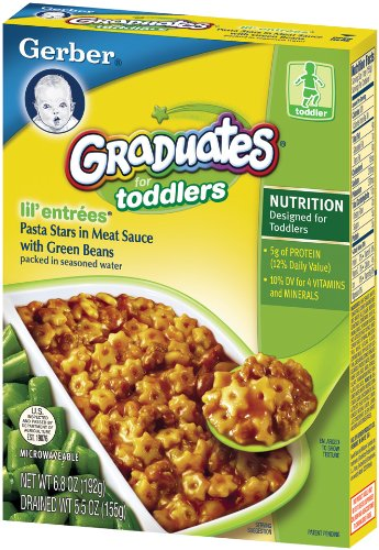 Gerber Graduates Lil' Entrees, Pasta Stars in Meat Sauce, 5.5-Ounce Boxes (Pack of 12) by Gerber Graduates