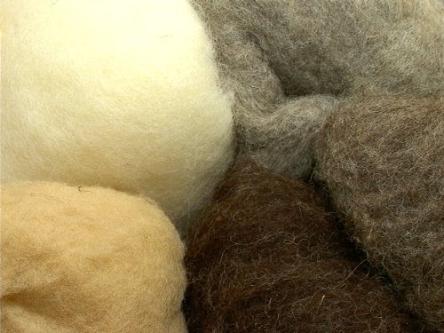 Magic Forest Shop Organic Magic/Fairy Wool, For Felting and Crafts 50g. Natural Shades
