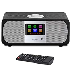 LEMEGA M3+ 20W Stereo Internet FM Digital Radio with Wi-Fi, Bluetooth, Built-in Subwoofer, USB, Aux & TFT Colour Display - Black Oak